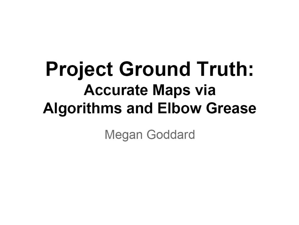 Google Ground Truth