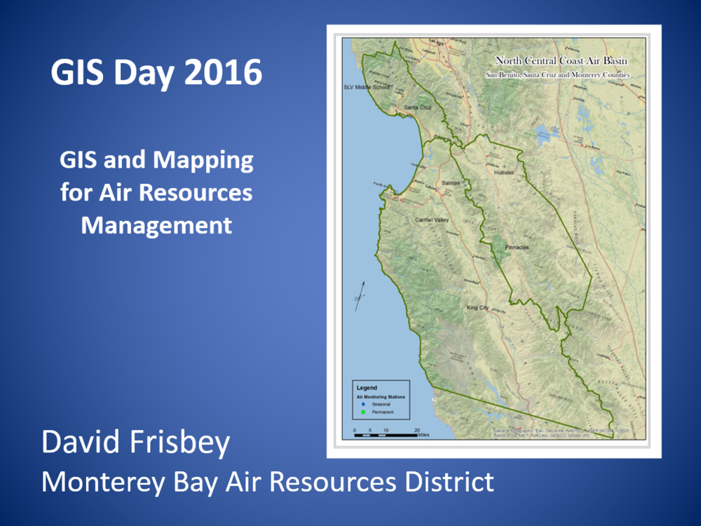 GIS for Air Resources Management