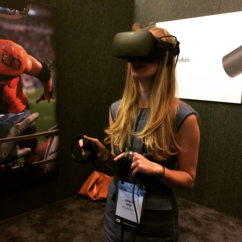 Me experiencing Oculus Touch.