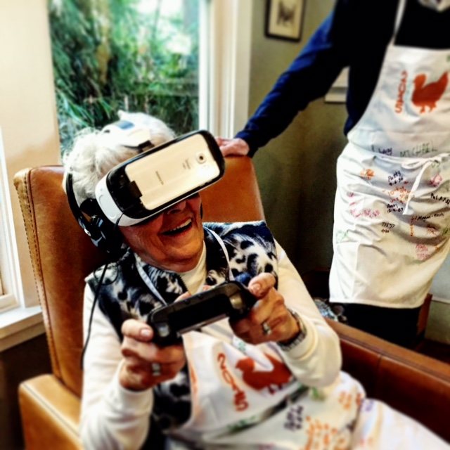 Even Grandma Cookie likes VR.