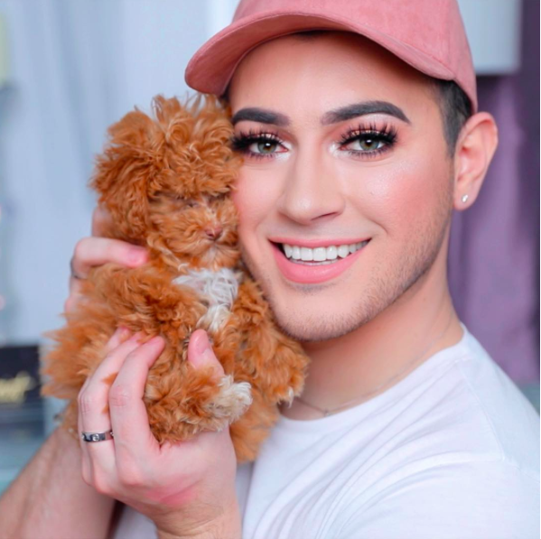 Manny with his adorable dog Zaya.