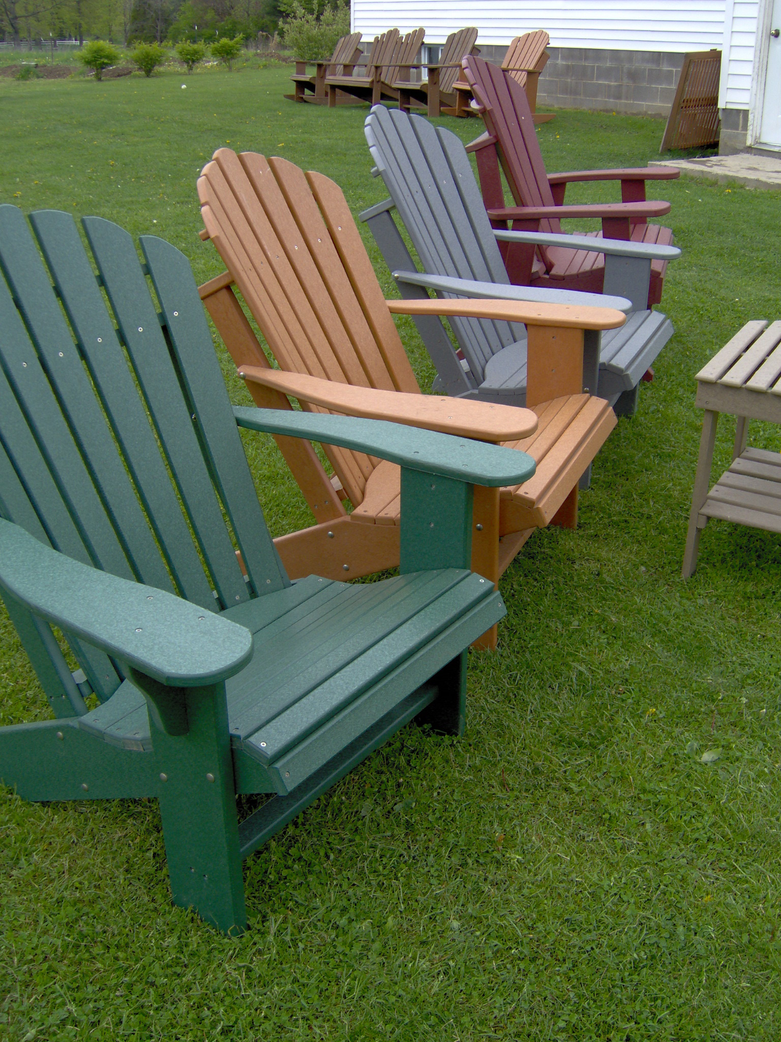 Comfo Back Poy Lumber Adirondack Chair
