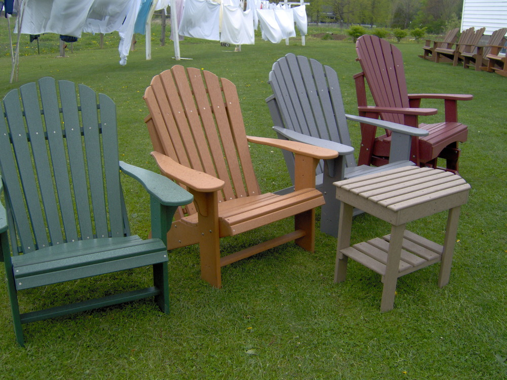 Attractive Comfo Back Polywood Adirondack Chair