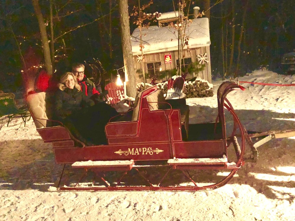 joe and wife red sleigh New Year Eve nite ride.jpg