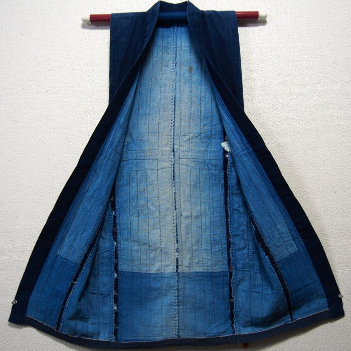 Vintage Japanese Noragi Boro Indigo Jacket. Image from Kimonoboy