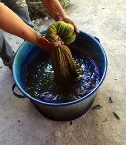 Dye bath. Photo - Oaxaca Cultural Navigator