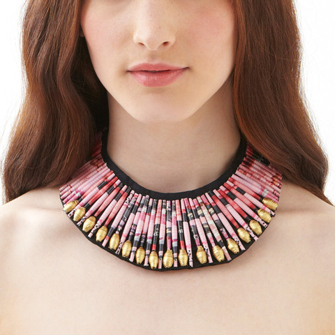 Pink Beaded necklace headshot - Swaziland.jpg