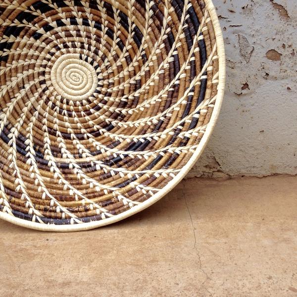 Banana leaf woven basket made in a fair trade environment