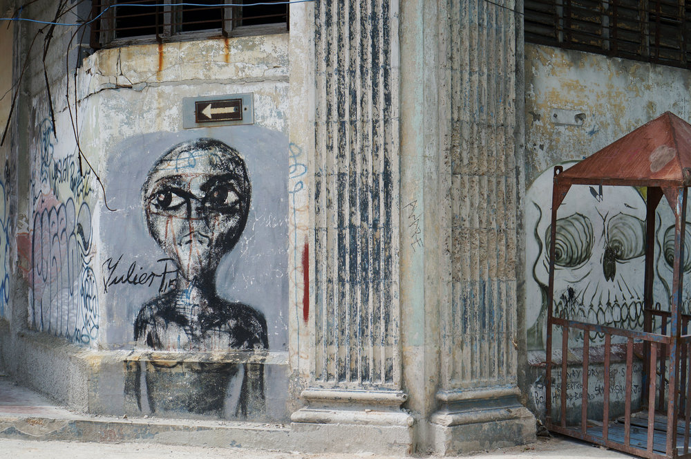 """I'm dying to figure out who """"Julien P"""" is because I see his street art everywhere in Vedado and Centro."""