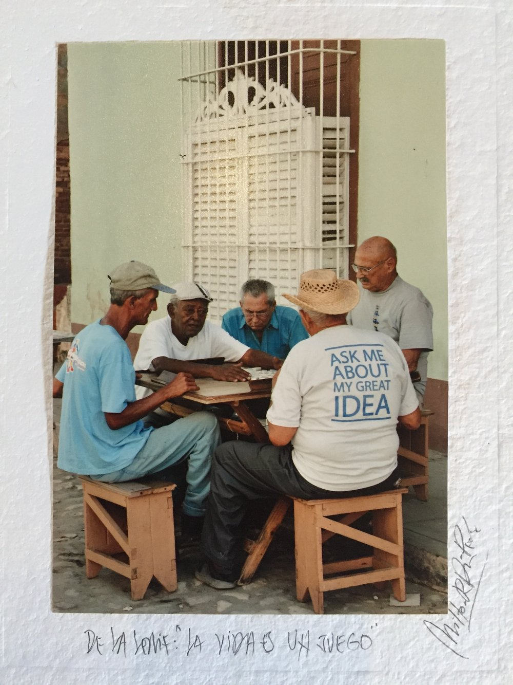 "A photograph I purchased at the Obispo Street Market, it's probably one of my favorite ""souvenirs"" from Havana.  Along with the photo of El Dandy....more to follow on that! (:"