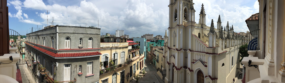 Pano view from the balcony
