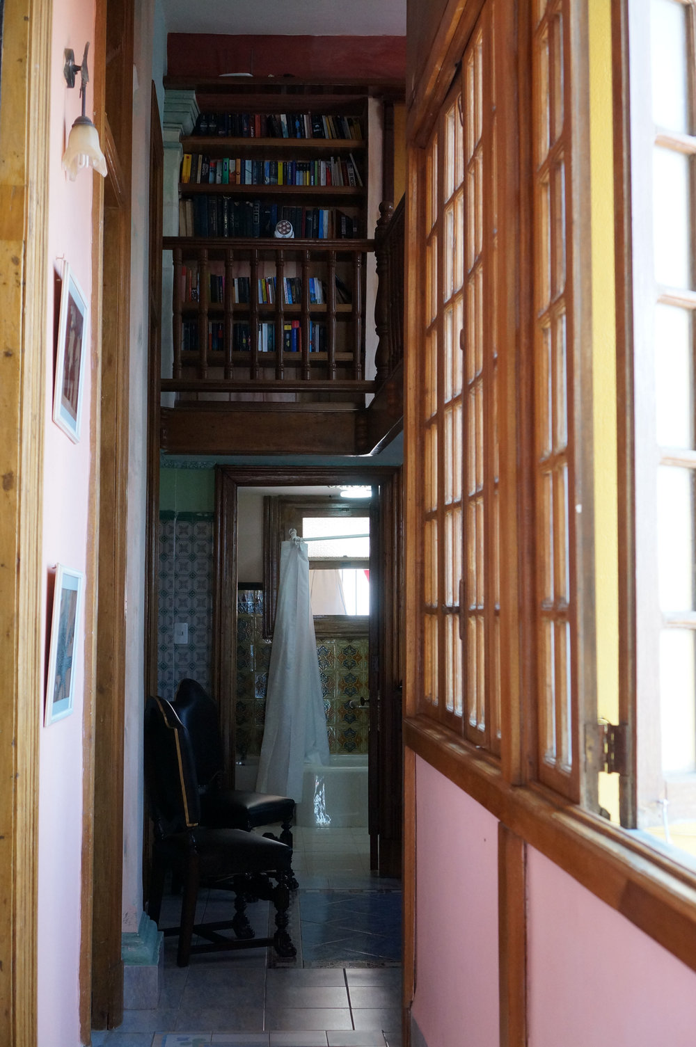 "Not the best photo but I was trying to capture the balcony ""library"" nook that overlooks the main hall."