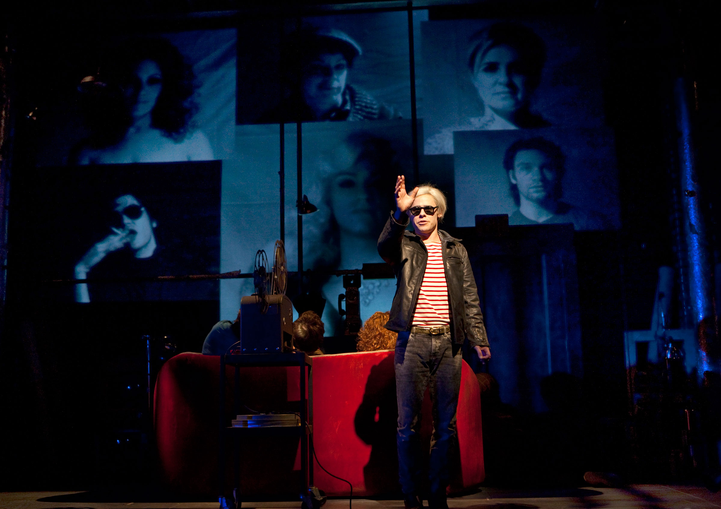 Randy Harrison as Andy Warhol, and the cast of Pop!