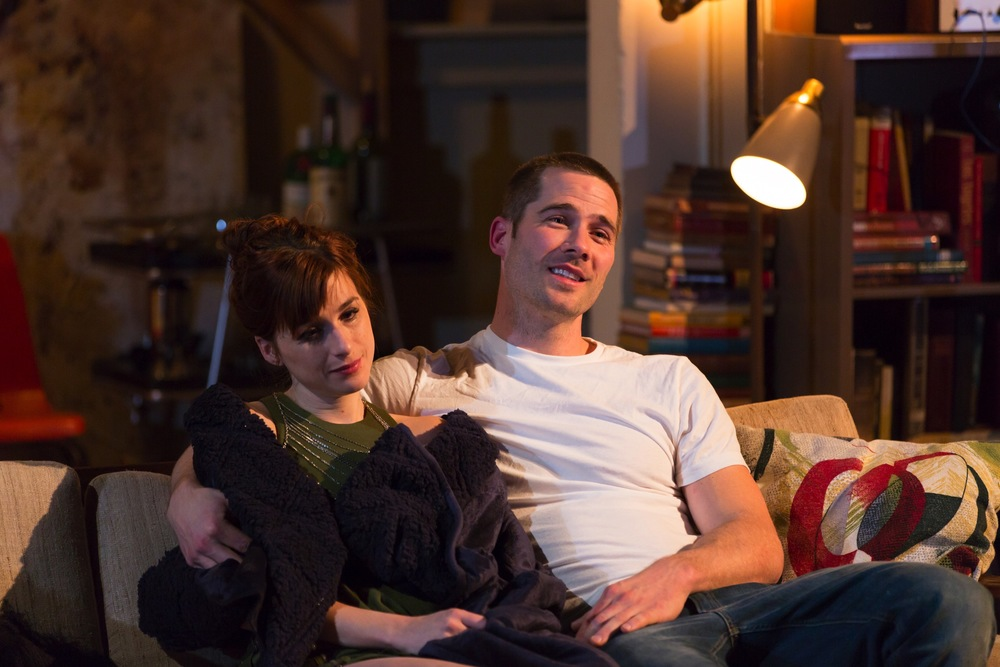 Claire (Aya Cash) and Jonathan (Luke Macfarlane)