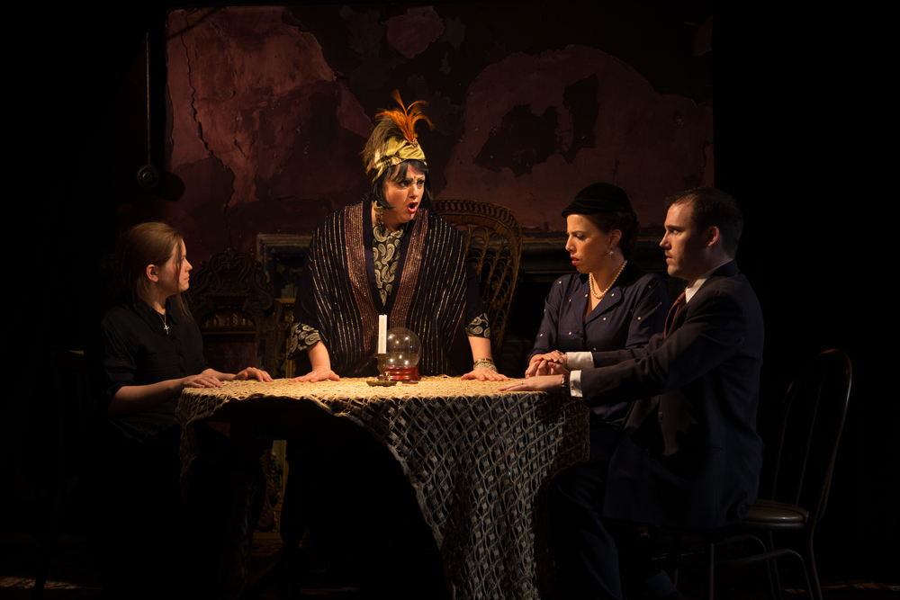 Mrs. Nolan (Rae Powell), Madame Flora (Janna Baty), Mrs. and Mr. Gobineau (Kelly Hill, Sterling Liška)