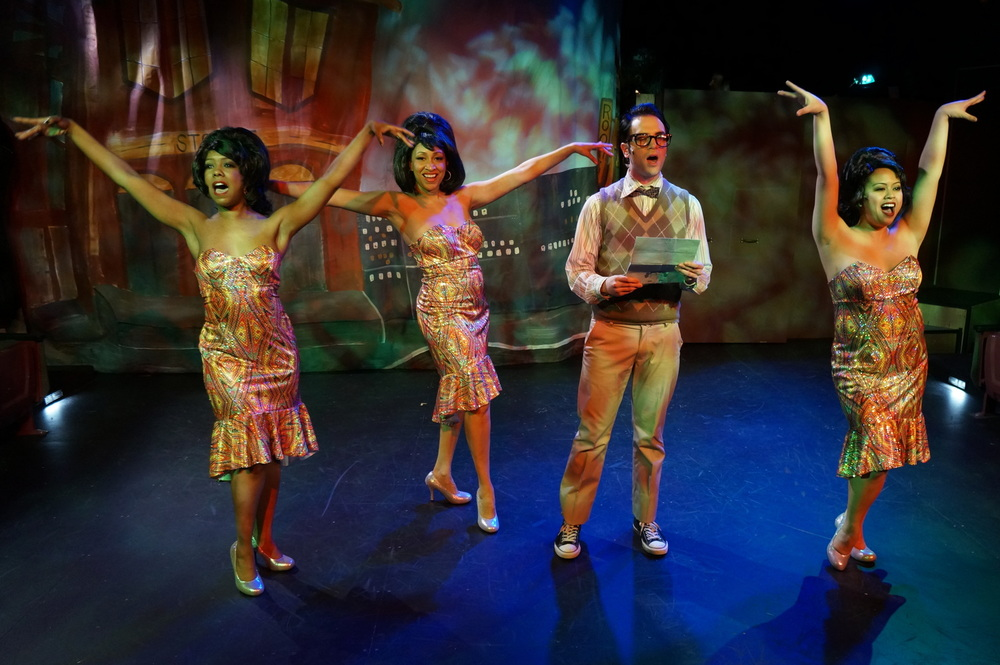 Chiffon (Inuka Ivaska), Ronette (Gabrielle Lee), Seymour (Anthony DiCostanzo), Crystal (Kristian Espiritu)