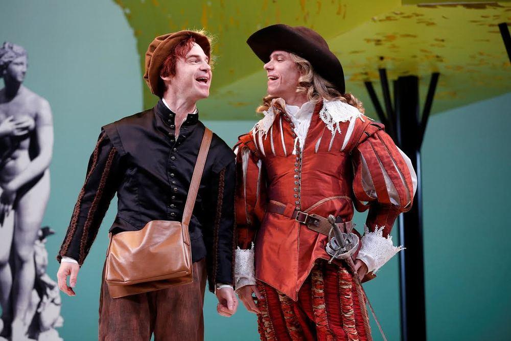Rusty Ross (Cliton), Aaron Krohn (Dorante)