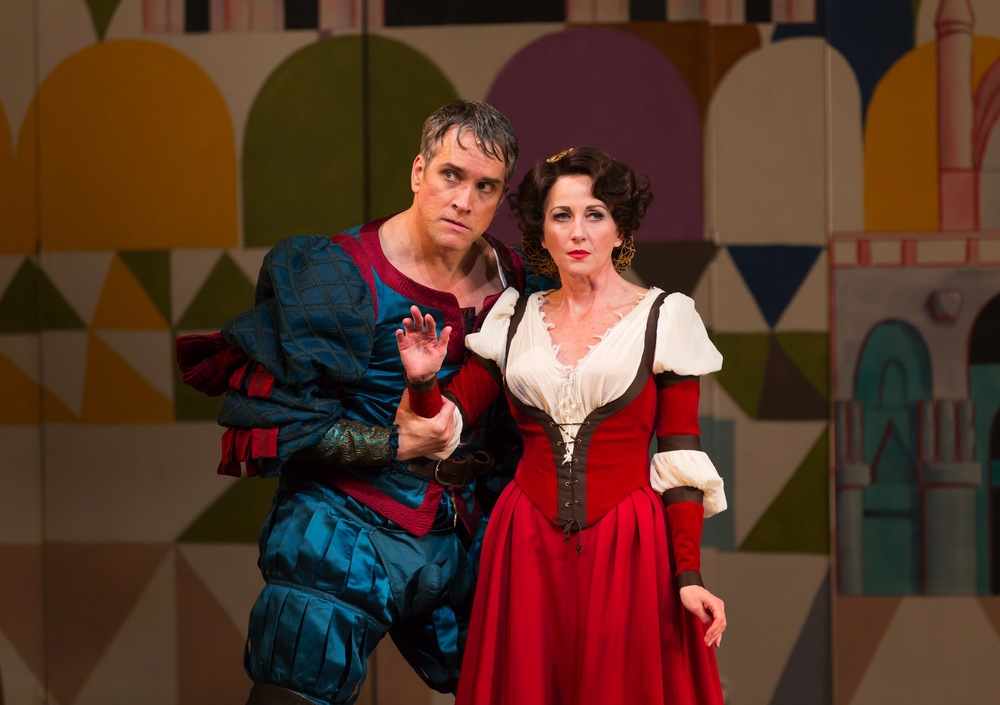 Mike McGowan as Fred as Petruchio; Anastasia Barzee as Lilli as Kate
