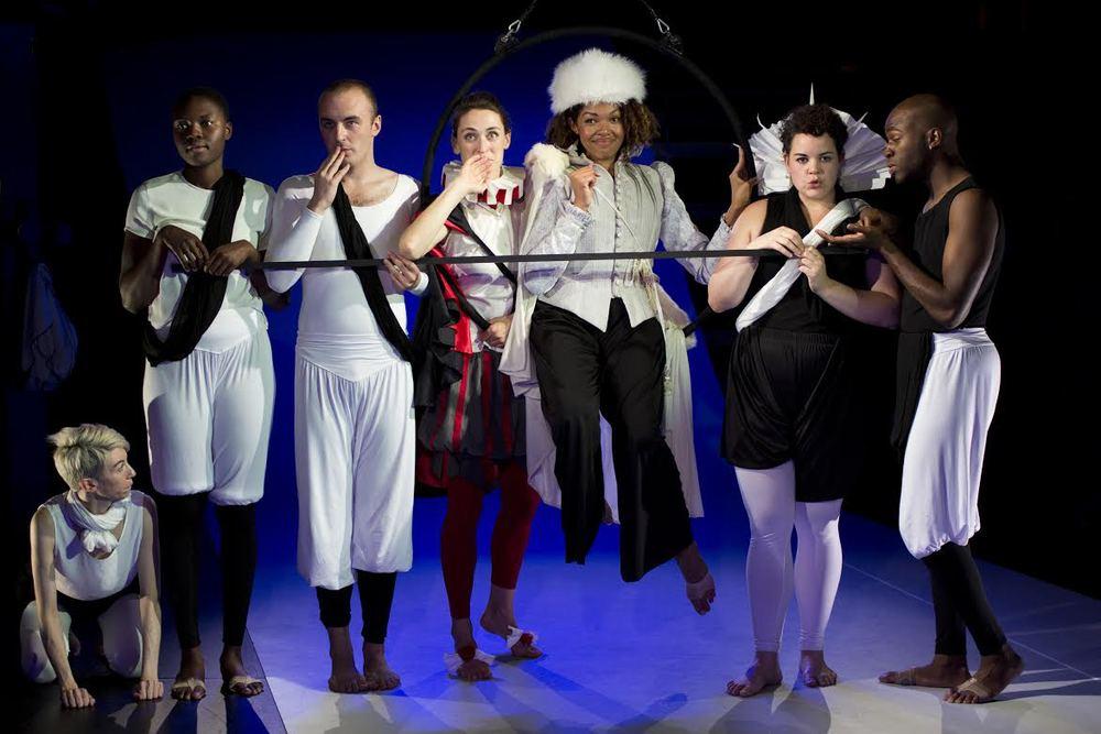 The cast of Orlando: Josephine Stewart, Shaunette Renee Wilson, Niall Powderly, Elizabeth Stahlmann, Chalia La Tour, Melanie Field, Leland Fowler