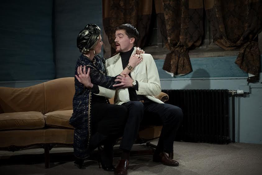 Jesse Rasmussen (Clytemnestra), George Hampe (Agamemnon)