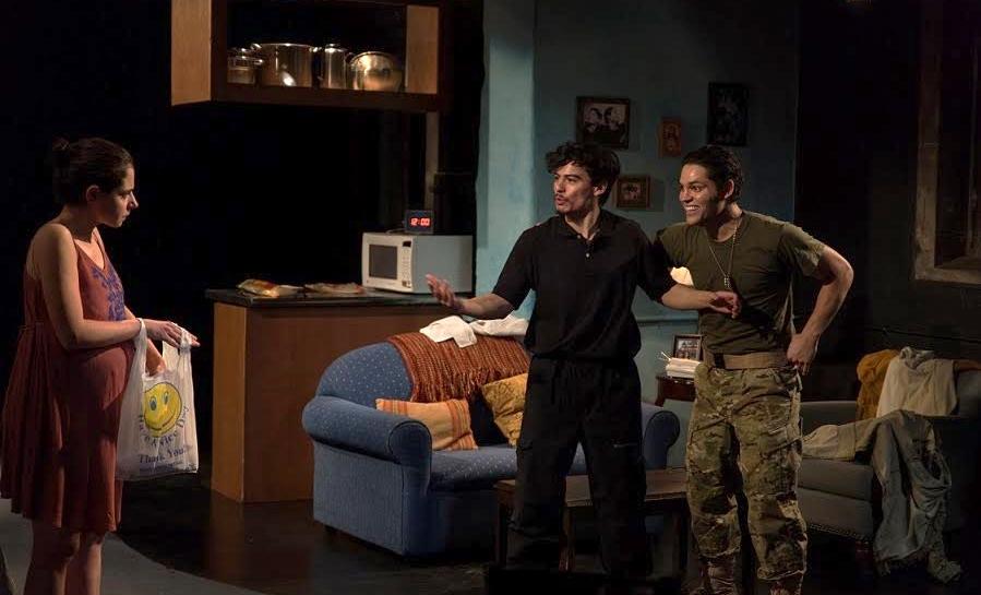 Celestina del Sol (Stephanie Machado), Anibal de la Luna (Bradley James Tejeda), Nelson (Barbaro Guzman)
