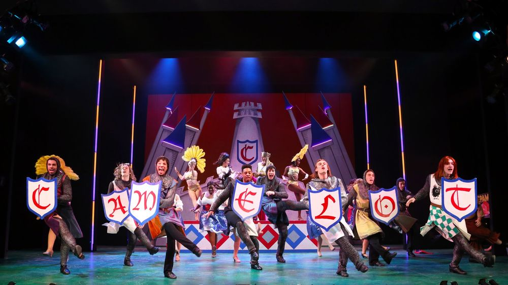 The Cast of Spamalot (photo: Gerry Goodstein)