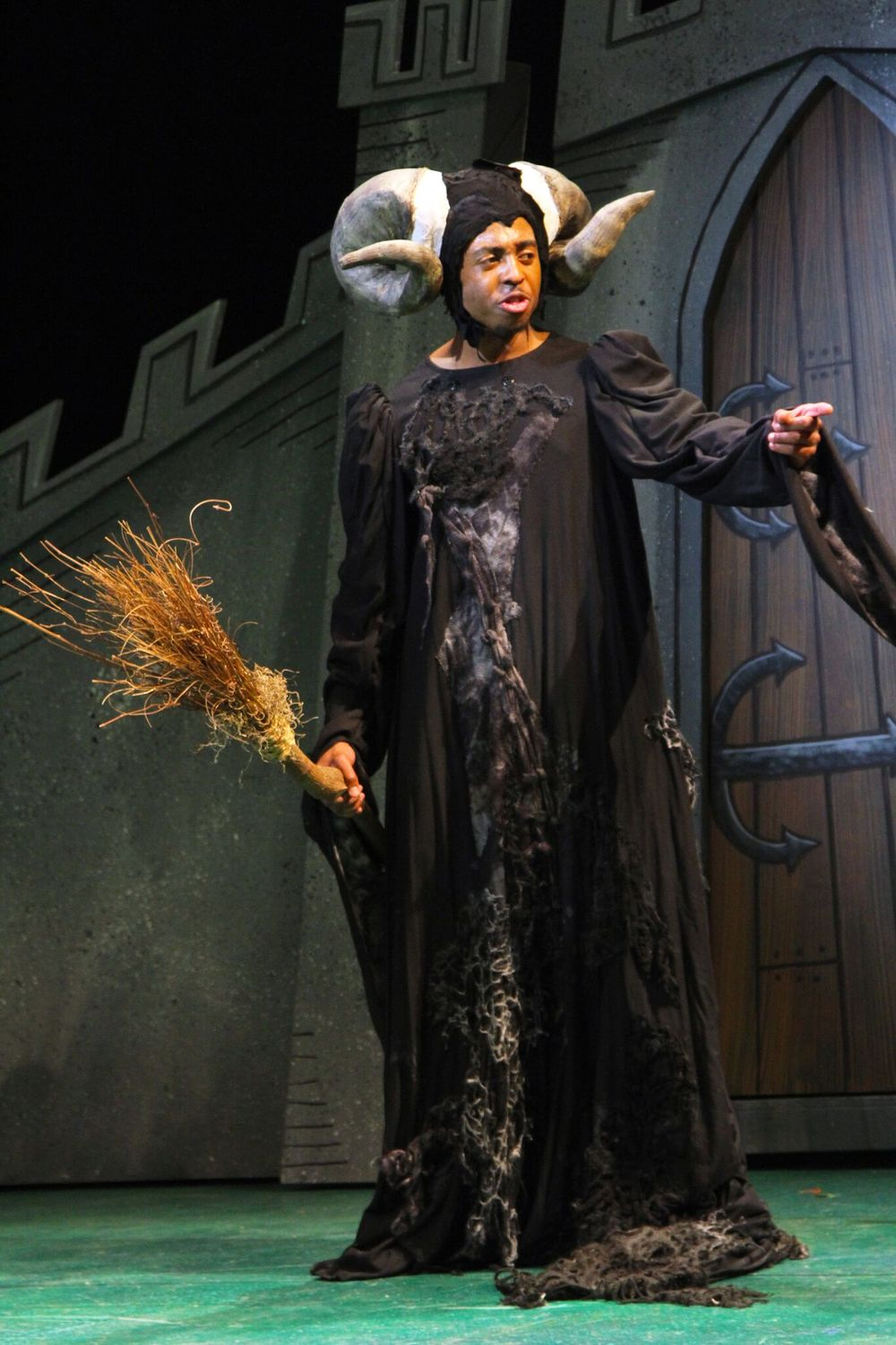 BFA Actor Bryce Wood as Tim the Enchanter (photo: Gerry Goodstein)