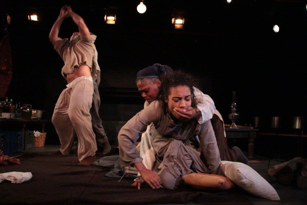 Eli Arkha (Seta Waiiniqolo), Talaz (James Udom), Sayrash (Antoinette Crowe-Legacy), Yashar (Courtney Jamison) (photo: Elizabeth Green)
