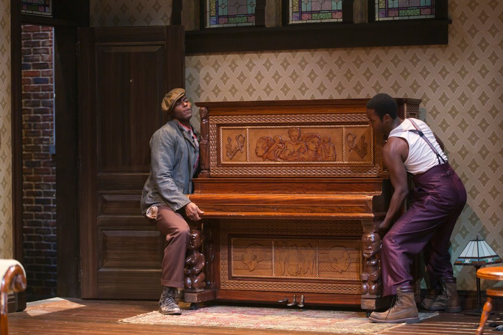 Boy Willie (Clifton Duncan) and Lymon (Galen Ryan Kane) (photo: T. Charles Erickson)