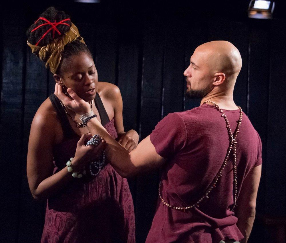 Oya (Moses Ingram), Shango (Jonathan Higginbotham)
