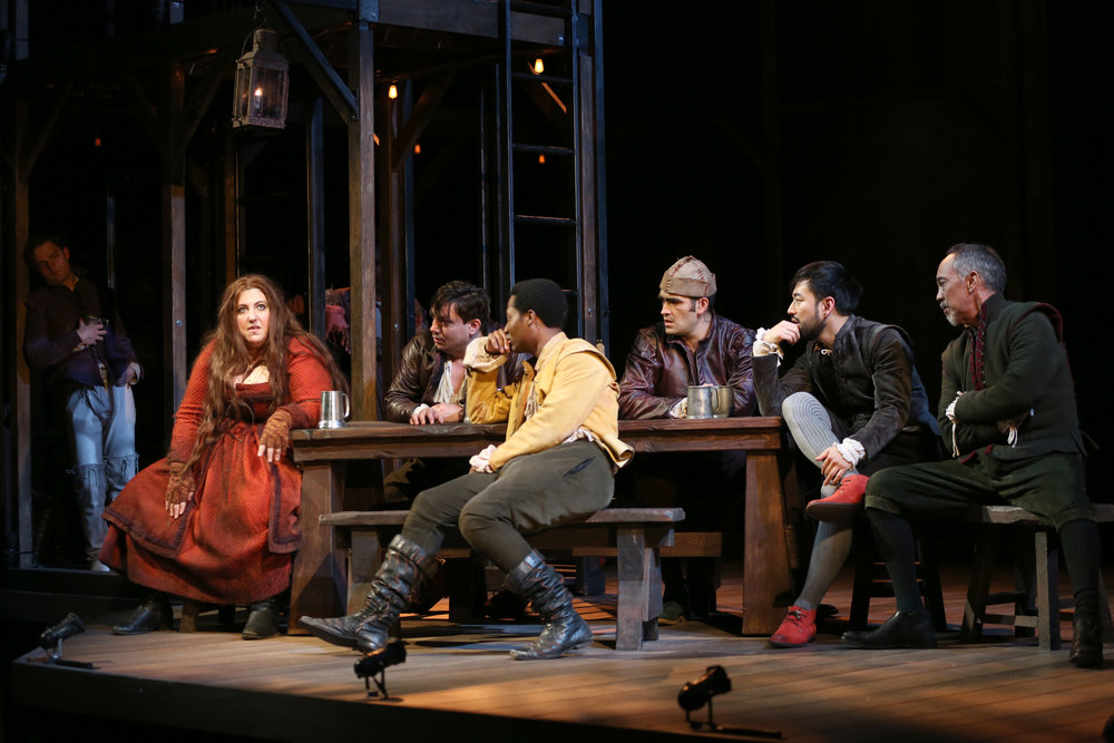 The cast of Imogen Says Nothing (photo: Joan Marcus)