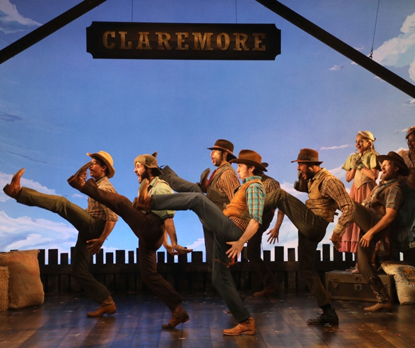 Will Parker (Jake Swain, front) and the cast of Oklahoma! (photo: Diane Sobolewski)