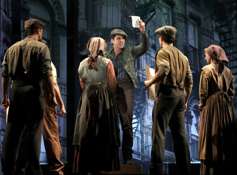 center: Sal Russo (Sean MacLaughlin) and the cast of Rags