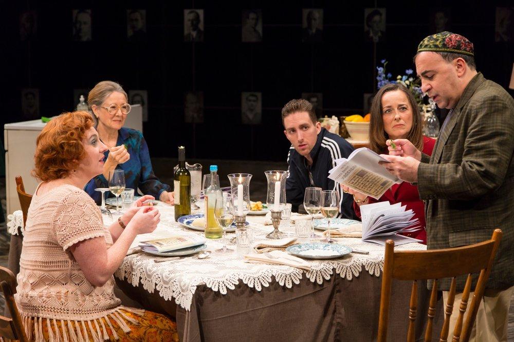 Margit (Julia Sirna-Frest), Erzsike (Mia Dillon), Laci (Dustin Ingram), Judit (Birgit Huppuch), David (Steven Rattazzi) (photos: T. Charles Erickson)
