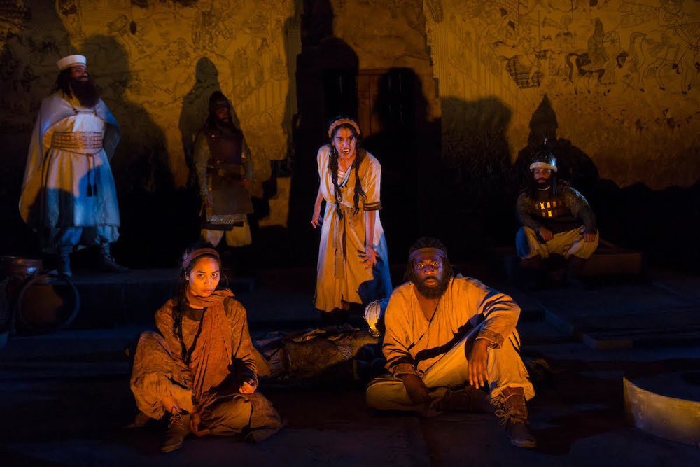 The cast of Death of Yazdgerd (photos: T. Charles Erickson)