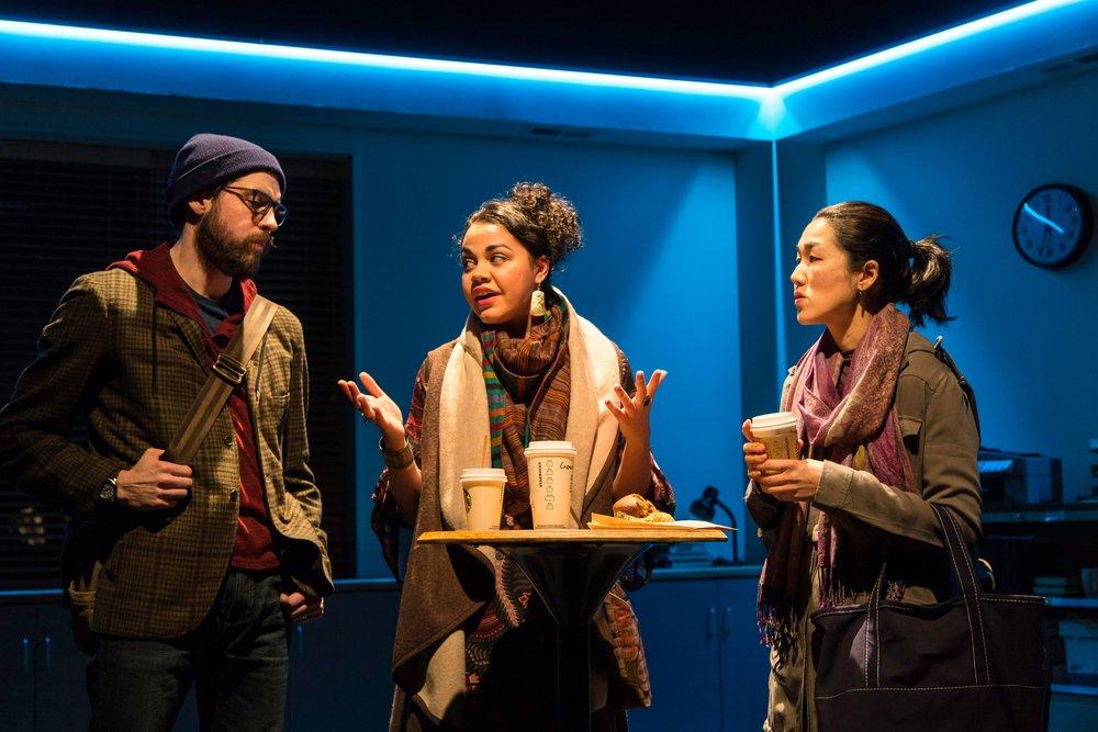 David (Jeremy Kahn), Genevieve (Kerry Warren), Gina (Jackie Chung)