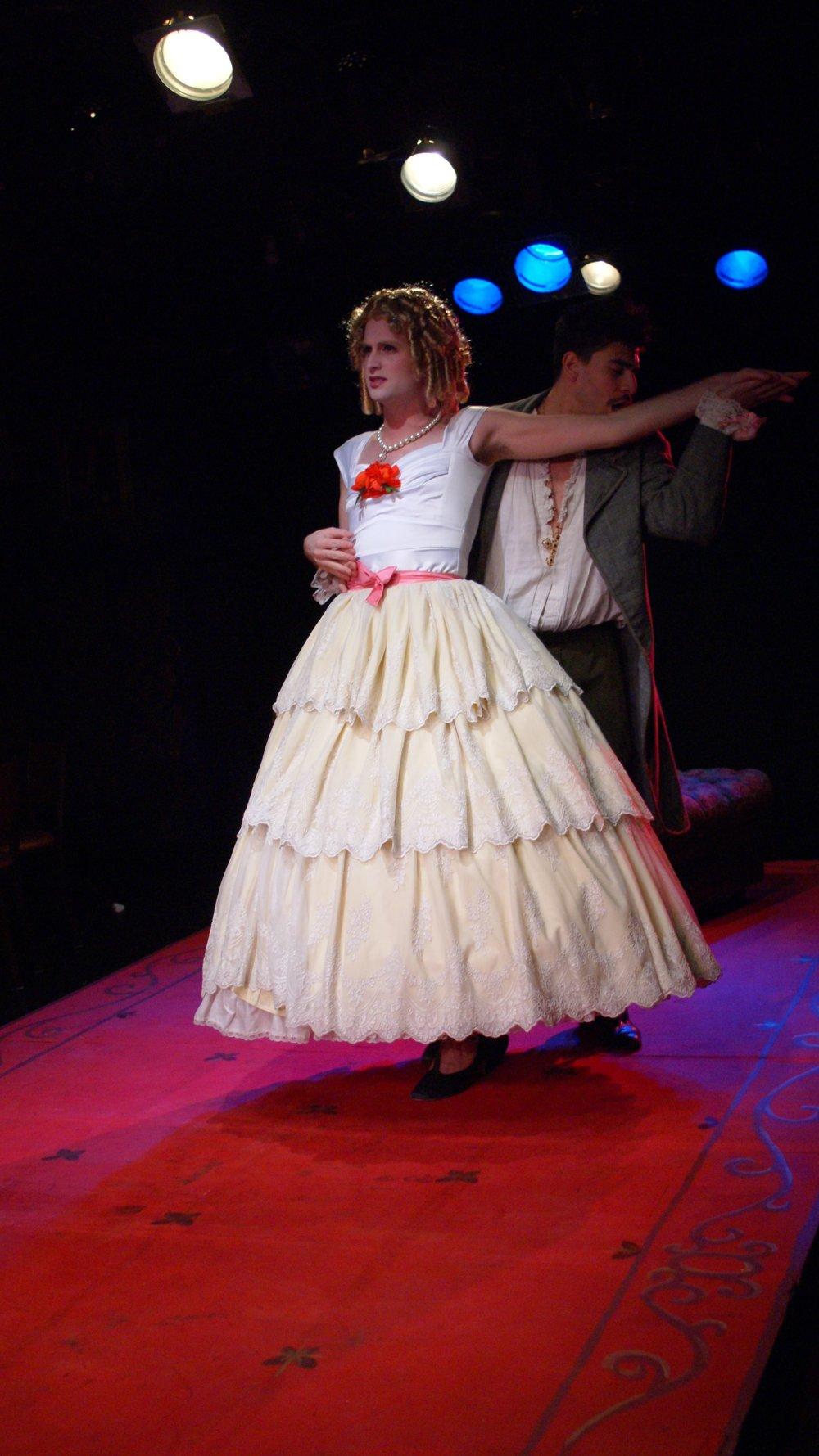 Marguerite Gautier (Michael Breslin), Armand Duval (Arturo Soria) (photos by Steph Waaser)