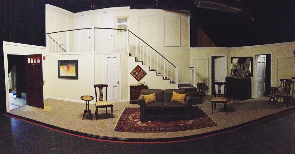George Kulp's set design for Rumors at New Haven Theater Company