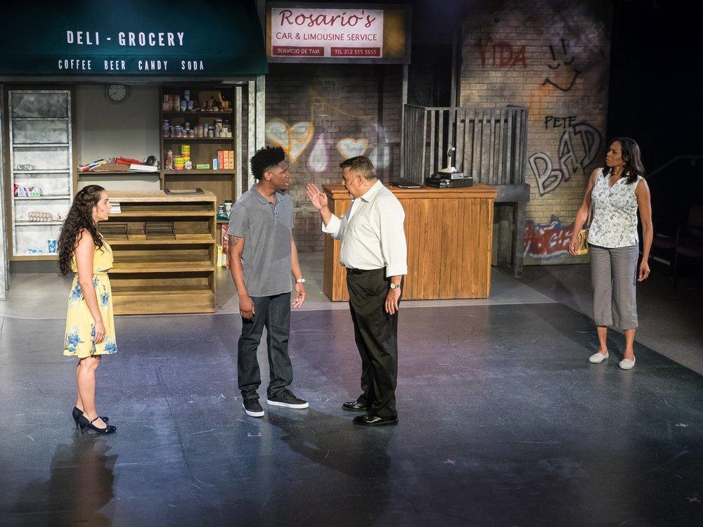 Nina Rosario (Analise Rios), Benny (Leyland Patrick), Kevin (JL Rey) and Camila (Stephanie Pope) Rosario