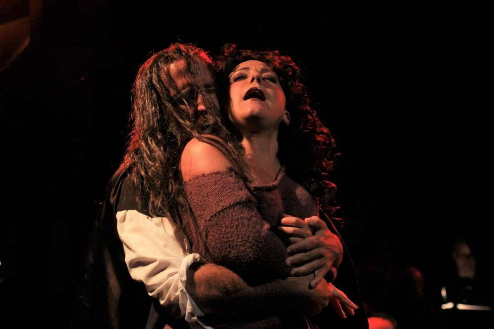 Andrew Foote (Hyde), Elissa DeMaria (Lucy Harris) in the Music Theatre of Connecticut production of Jekyll & Hyde