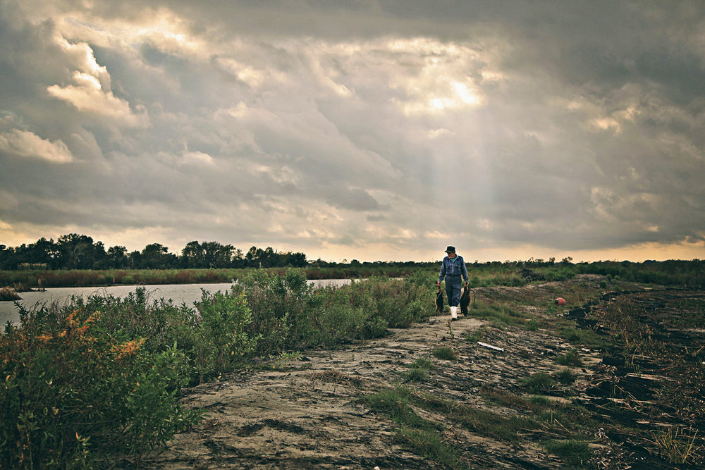 Thomas Gonzales walks the decimated wetlands of southern Louisiana. (Still photos courtesy of Tilapia Film)