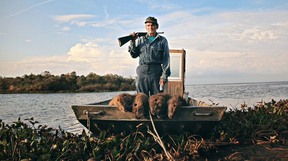 Thomas Gonzales defending Delacroix Island, Louisiana, from the invasion of nutria.