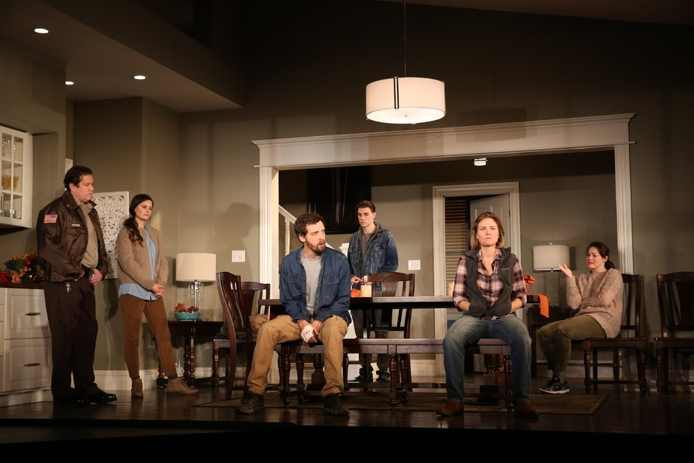 The cast of Thousand Pines: William Ragsdale (Actor 2), Katie Ailion (Actor 5), Joby Earle (Actor 4), Andrew Veenstra (Actor 6), Kelly McAndrew (Actor 1), Anne Bates (Actor 3)
