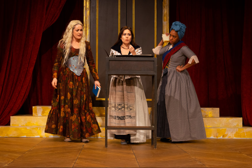 Charlotte Corday (Olivia Jampol), Olympe de Gouges (Rebecca Hart), Marianne Angelle (Erin Roché) (Photos: Meredith Longo)