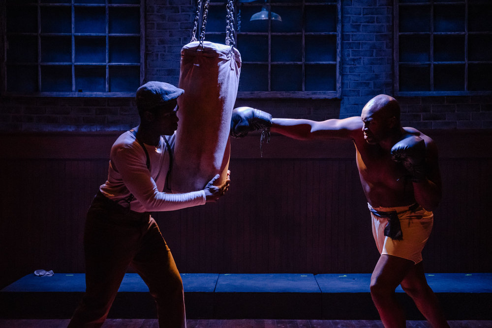 "Jay ""The Sport"" Jackson (Christopher Bethune) trains, in Collective Consciousness Theatre's production of Marco Ramirez's The Royale, directed by Jenny Nelson (photos courtesy of CCT)"