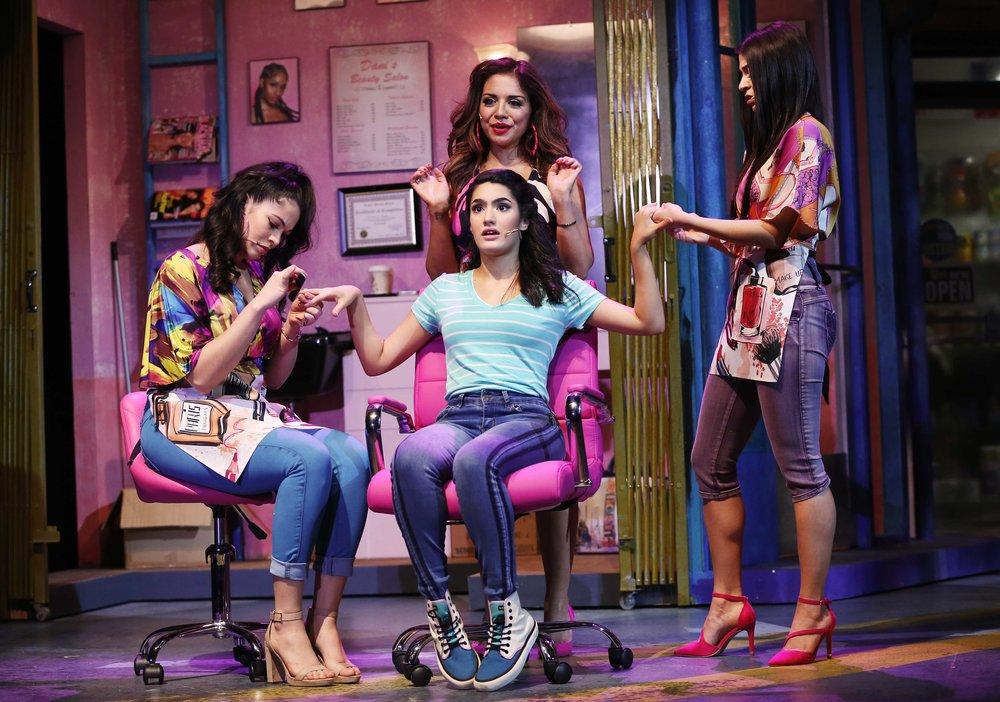 Carla (Amanda Robles), Daniela (Sandra Marante), Nina (Didi Romero), and Vanessa (Nina Victoria Negron) (photo by Carol Rosegg)