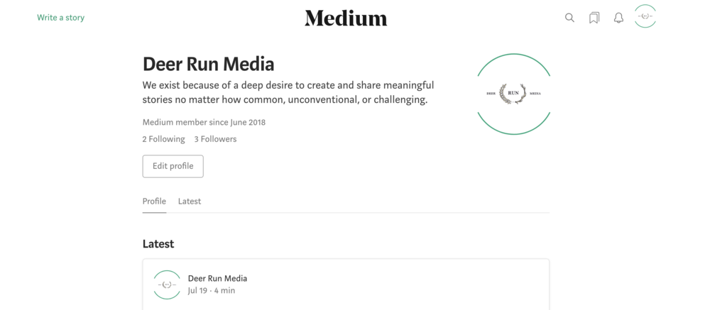 Writing examples (SEO blog content) can be found for  Deer Run Media  via their  Medium Page  which is largely contributed and managed by me.