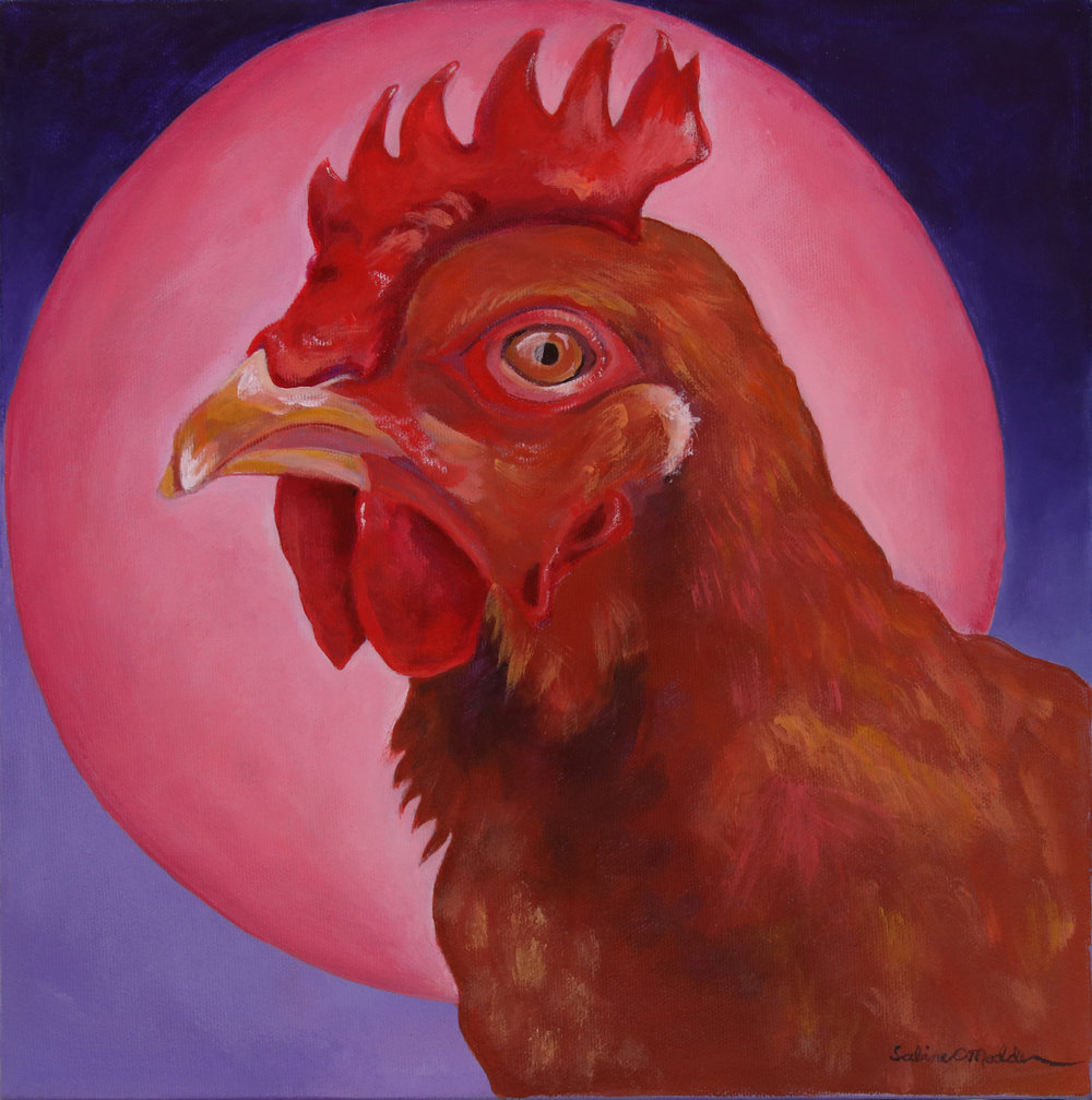 Strawberry Moon, Red Hen in June