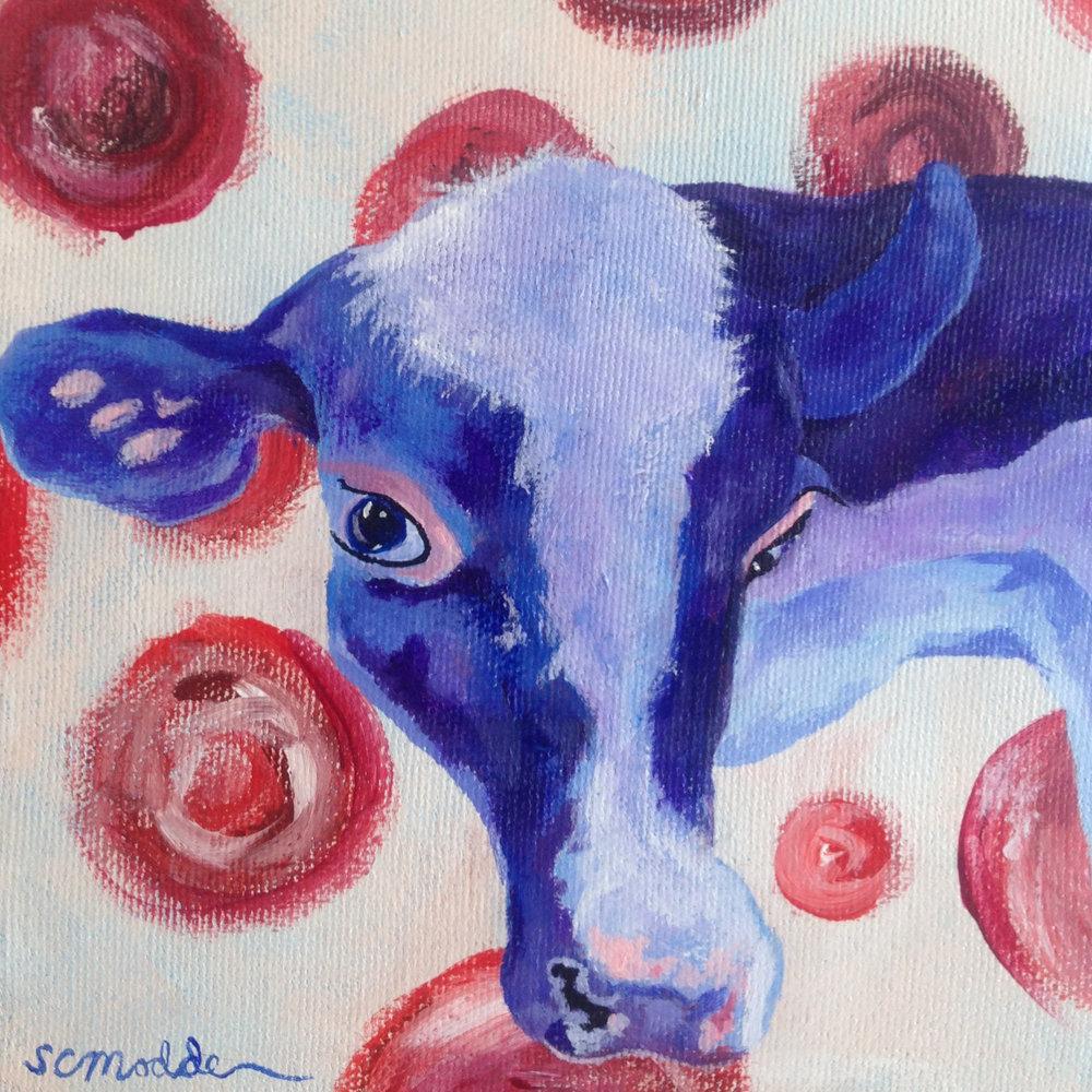 Bessie Blue sees spots II