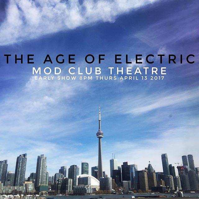 Toronto this Thursday April 13th @modclubtheatre early show Doors 7pm  Darenots 8pm AOE 9pm